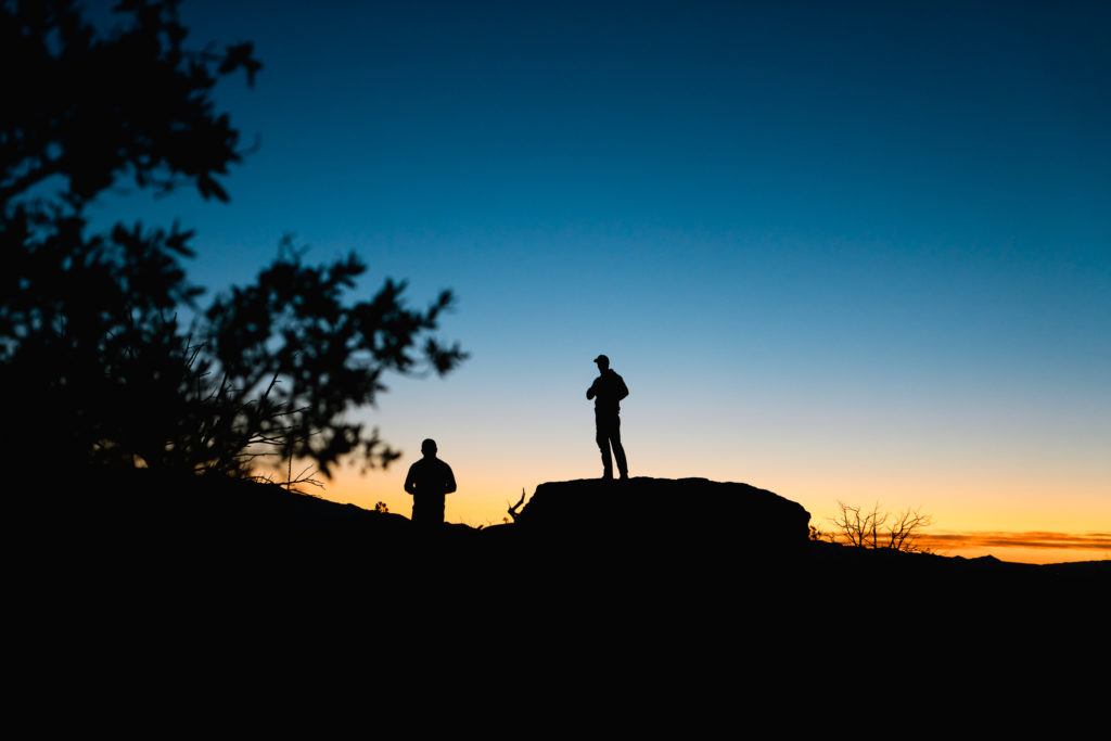 An Arizona sunrise on an archery hunt for coues deer