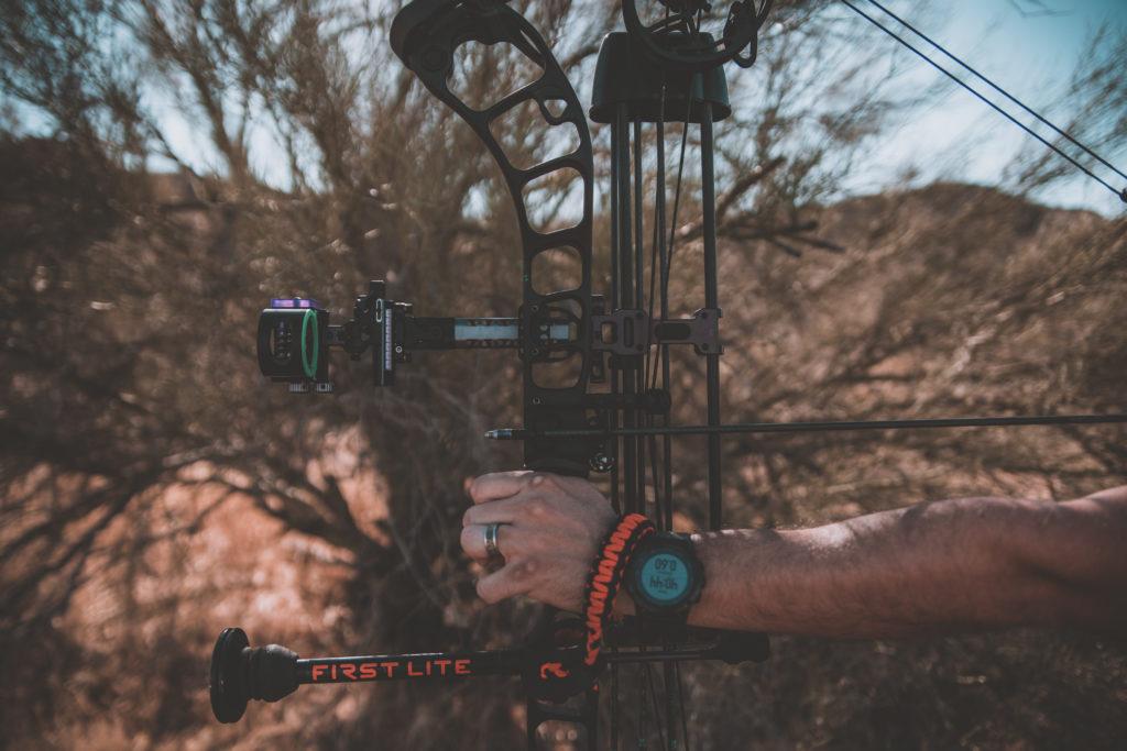 Josh Kirchner honing his archery skills at the archery range