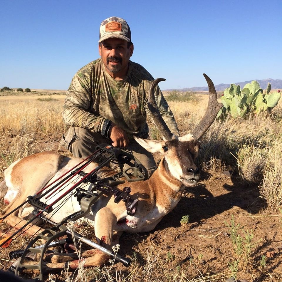Nate LaCost from Ross Outdoors with his archery antelope from 2019