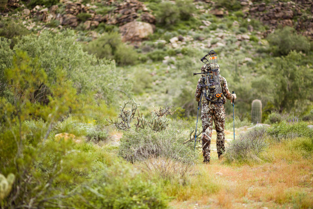 Josh from Dialed in Hunter heading out on a bowhunting adventure