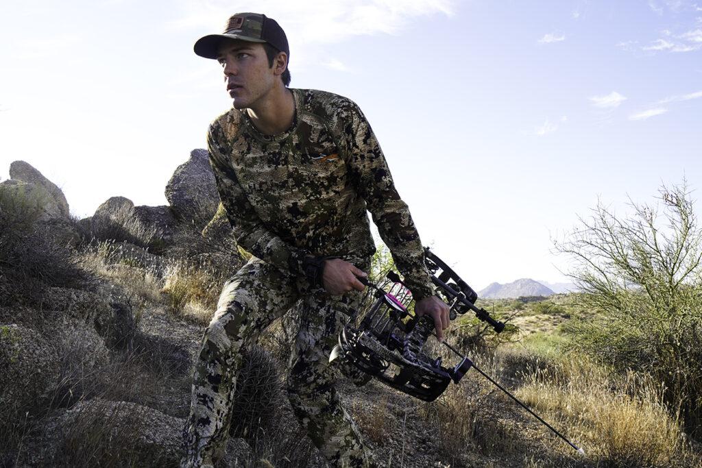 Archery hunter stalking in Arizona