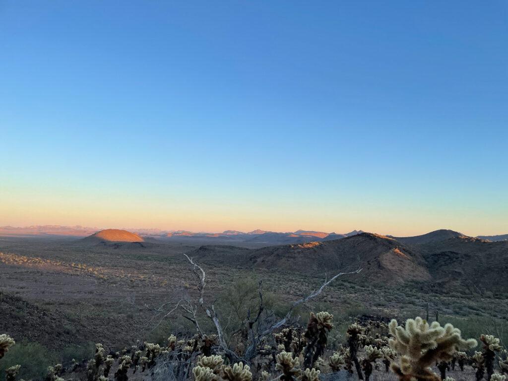 The desert landscape on David Vesa's bighorn sheep hunt in Arizona